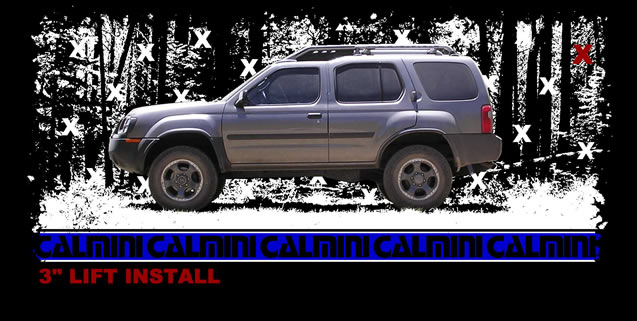 Calmini 3 Suspension Lift Install Nissan Xterra