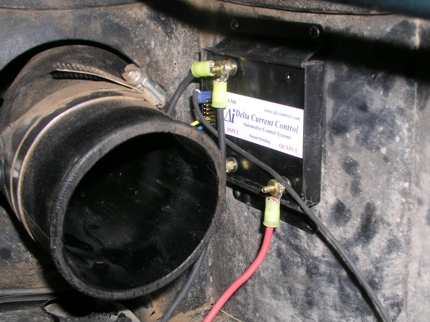 Electric Fan Install Jeep Wrangler Tj 02 Ac Control Wiring Diagram Trim The Wire To Your Desired Length And Attach Other End We Ran Positive Posts Pos On Batt Then Both Negs