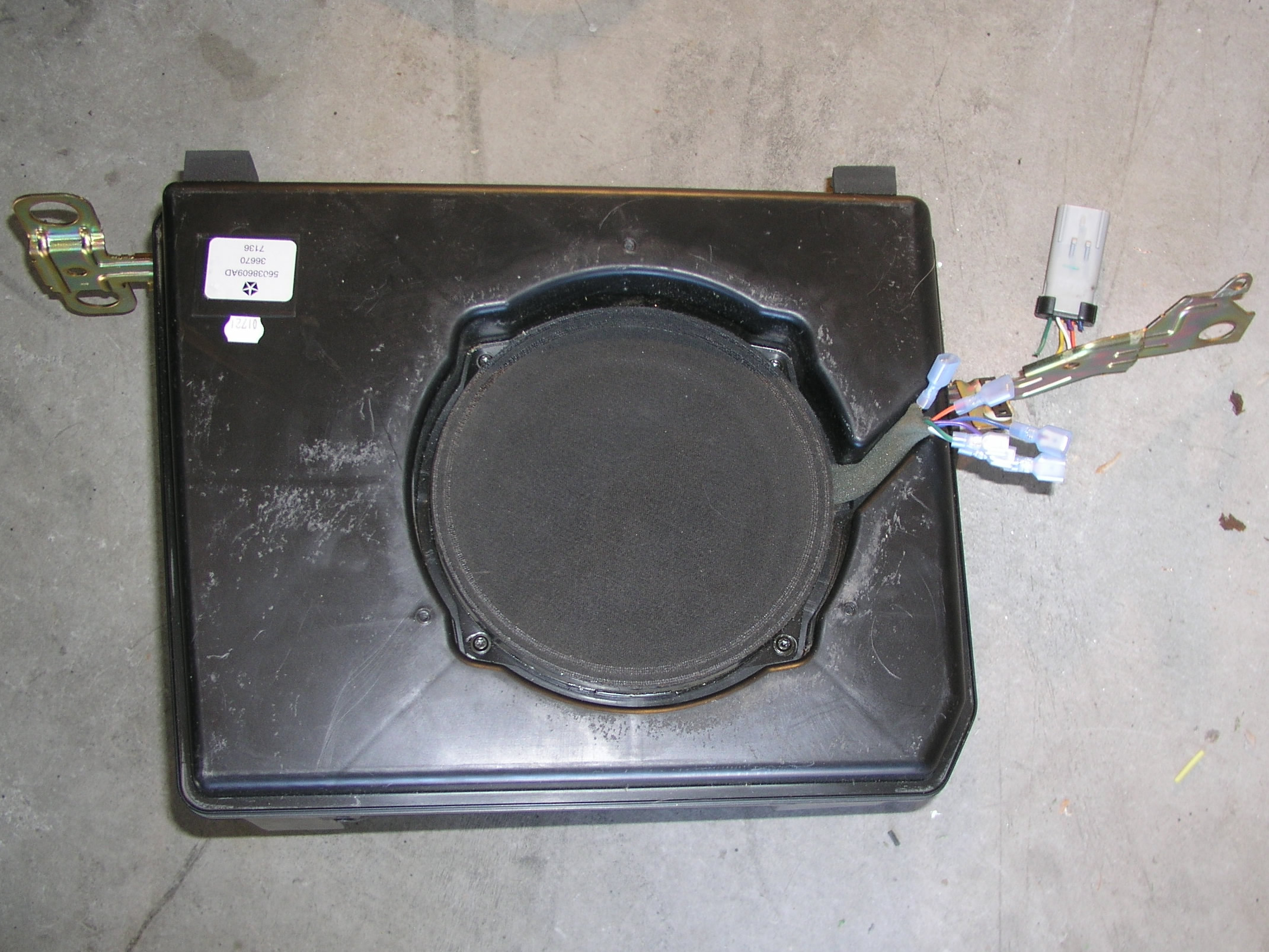 Retroactively Installing A Factory Sub In Your Wrangler Subwoofer Wiring Diagram Together With Dual Voice Coil Speaker The Last Picture Here Shows Bass Blockers Wired Into Front Speakers Leads Dark Green Violet
